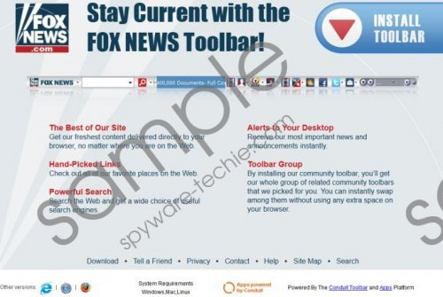 Fox News Toolbar Removal Guide