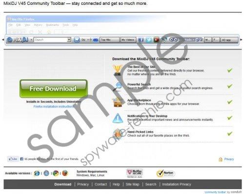 MixiDJ V45 Toolbar Removal Guide