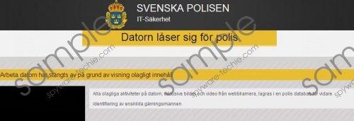 Svenska Polisen Virus Removal Guide