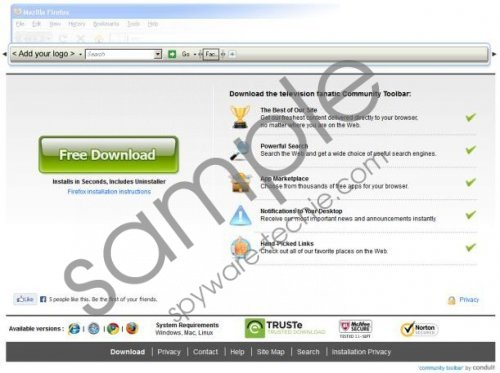 Television Fanatic toolbar Removal Guide