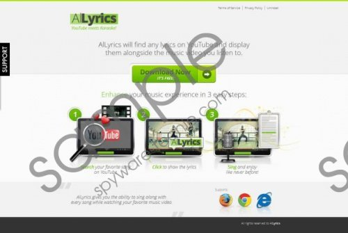 Allyrics Pop-up Ads Removal Guide