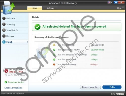 Advanced Disk recovery Removal Guide