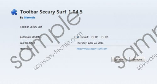 Secury Surf toolbar Removal Guide