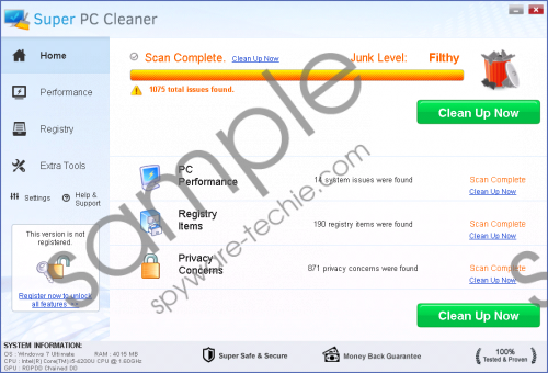 Super PC Cleaner Removal Guide