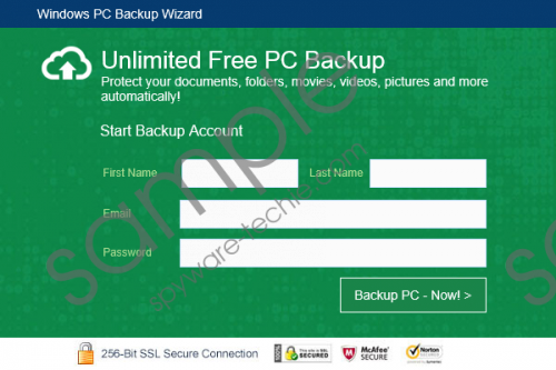 PCBackupWizard Removal Guide