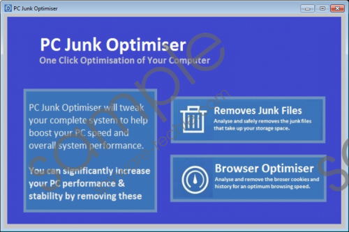 PC Junk Optimiser Removal Guide