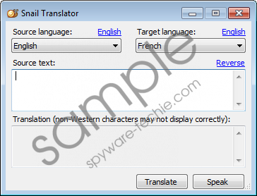 Snail Translator Removal Guide