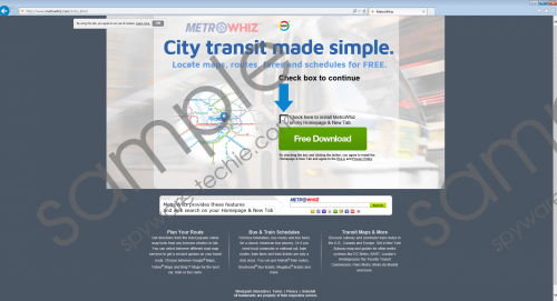 MetroWhiz Toolbar Removal Guide