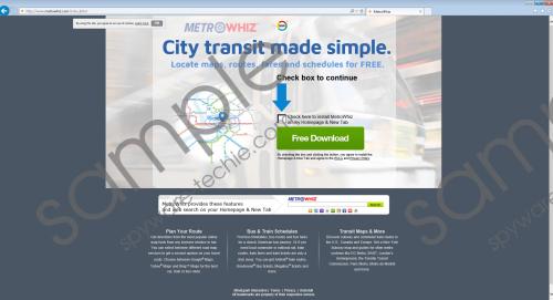 MetroWhiz Toolbar Removal Guide