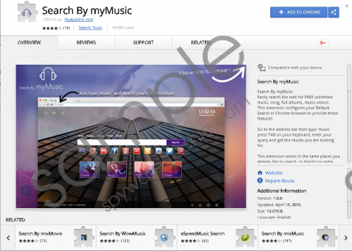Search By myMusic Extension Removal Guide