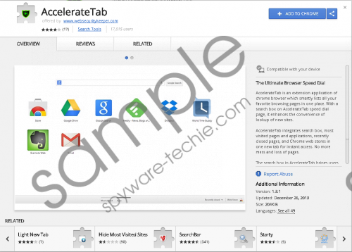 AccelerateTab Removal Guide