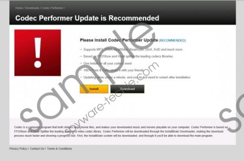 Codec Performer Update is Recommended Removal Guide