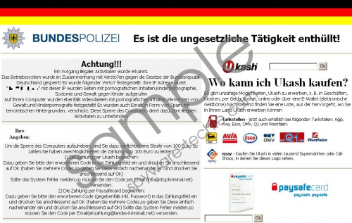 Bundespolizei National Cyber Crimes Unit Removal Guide