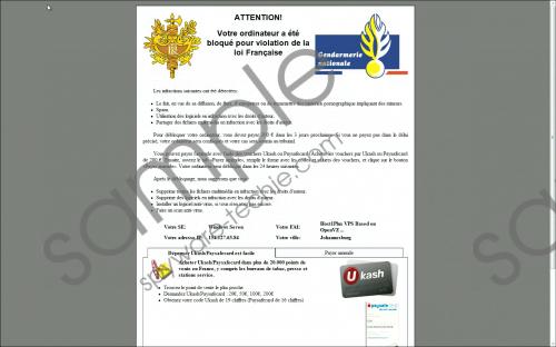 Gendarmerie Nationale Virus Removal Guide