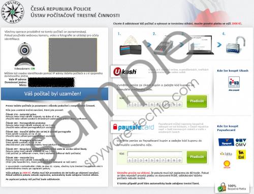 Česká Republika Policie virus Removal Guide