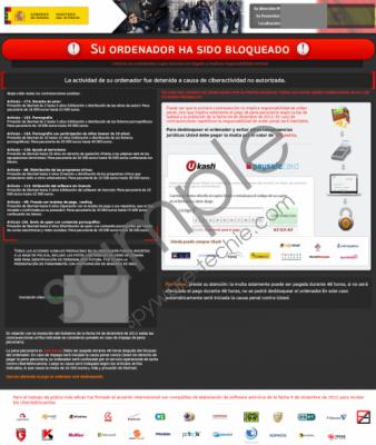 Su Ordenador Ha Sido Bloqueado Virus Removal Guide