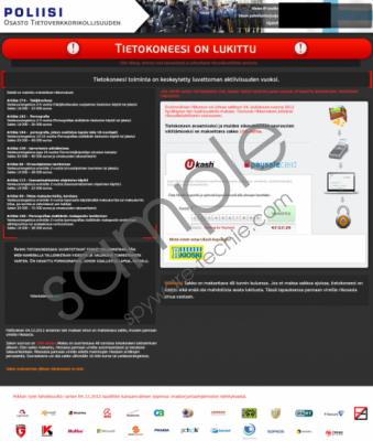 Tietokoneesi on Lukittu Virus Removal Guide