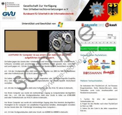 Gesellschaft Zur Verfügung Von Urheberrechtsverletzungen Virus Removal Guide
