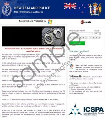 New Zealand Police Virus Removal Guide