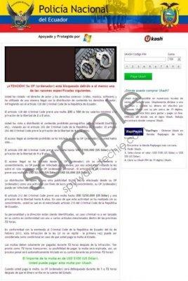 Policía Nacional del Ecuador Virus Removal Guide