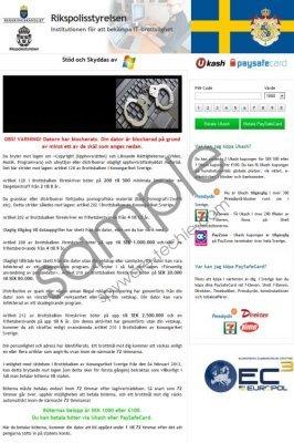Rikspolisstyrelsen Virus Removal Guide