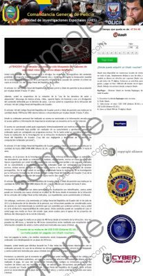Comandancia General de Policía virus Removal Guide