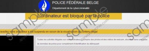 L'ordinateur est bloqué par la police Virus Removal Guide