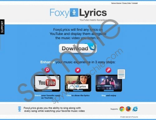 FoxyLyrics ads Removal Guide