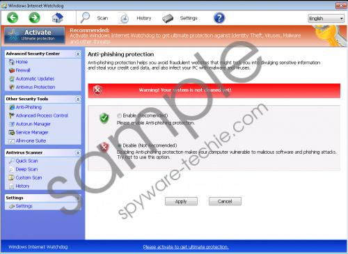 Windows Internet Watchdog Removal Guide