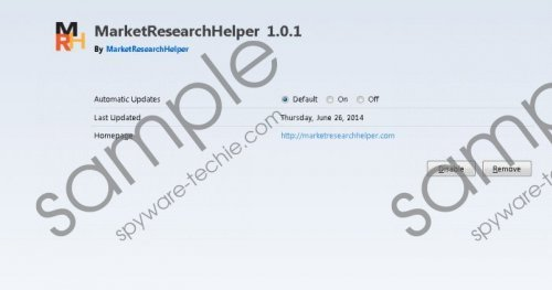 MarketResearchHelper Removal Guide
