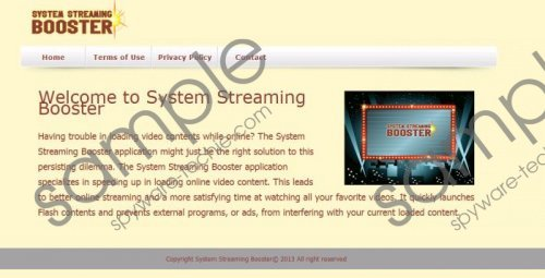 System Streaming Booster Removal Guide