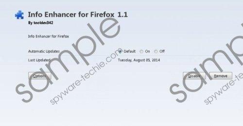 Info Enhancer Removal Guide