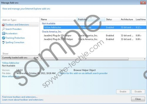 Yellow Adblocker Removal Guide