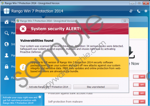 Rango Win 7 Antispyware 2014 Removal Guide