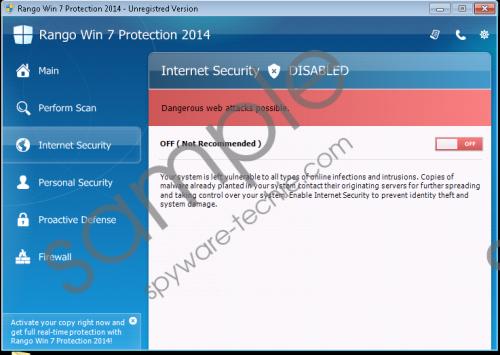 Rango Win 7 Antivirus 2014 Removal Guide