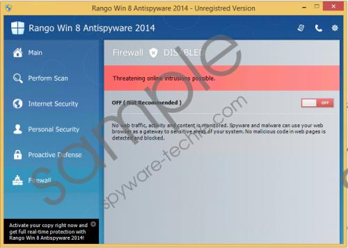 Rango Win 8 Antivirus 2014 Removal Guide