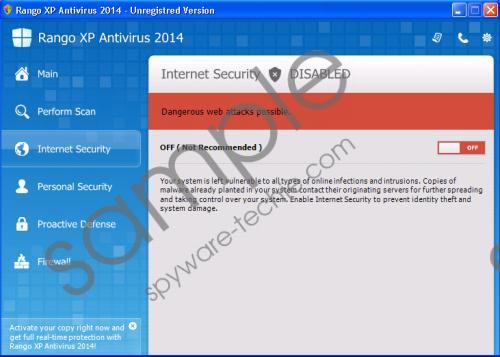 Rango XP Antispyware 2014 Removal Guide