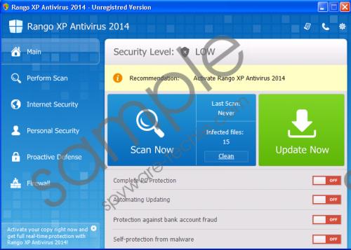 Rango XP Antivirus 2014 Removal Guide