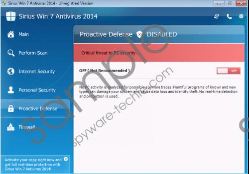 Sirius Win 7 Antispyware 2014 Removal Guide