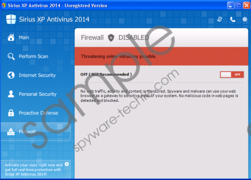 Sirius Win XP Protection 2014 Removal Guide