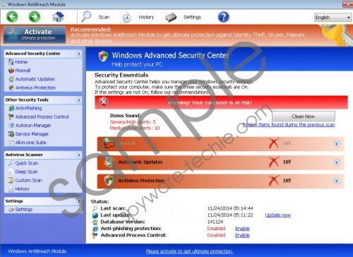 Windows Antibreach Module Removal Guide