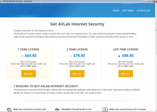 AVLab Internet Security Removal Guide