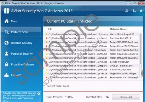 AVLab Internet Security Win 7 Antivirus 2015 Removal Guide