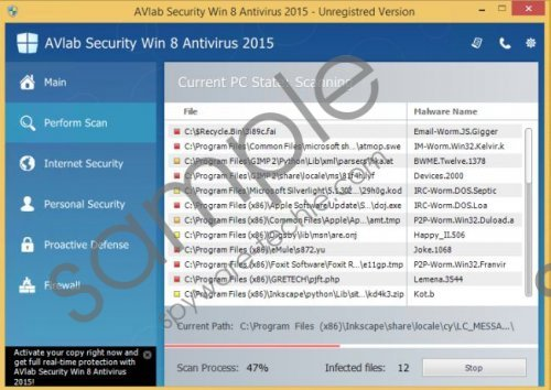 AVLab Internet Security Win 8 Antivirus 2015 Removal Guide