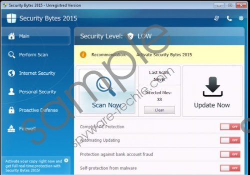 Security Bytes 2015 Removal Guide