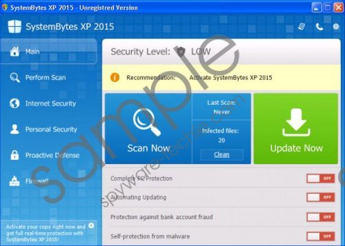 SystemBytes Win XP 2015 Removal Guide