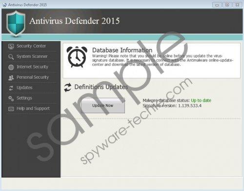 Antivirus Defender 2015 Removal Guide