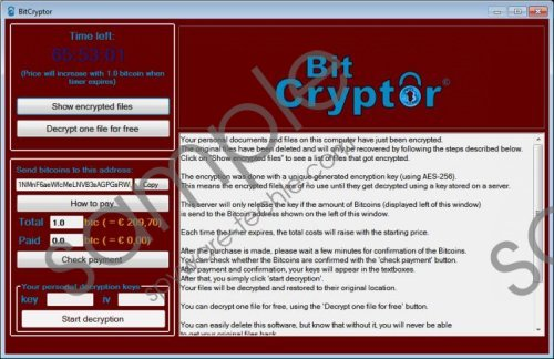 Bitcryptor Virus Removal Guide