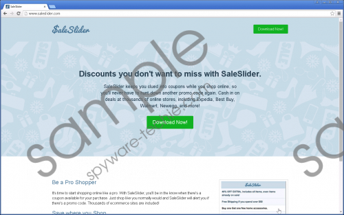 Saleslider Removal Guide