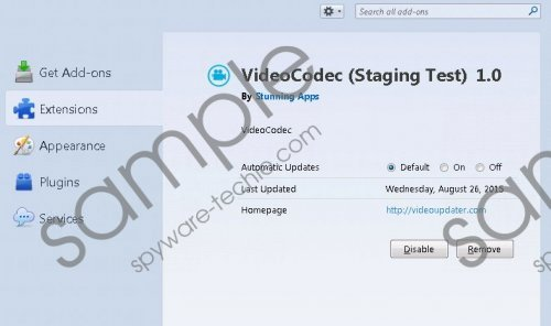 VideoCodec (Staging Test) Removal Guide
